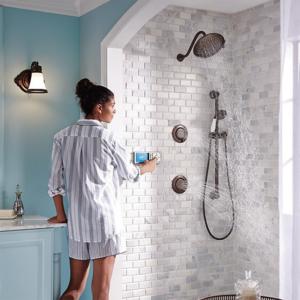 vertical shower system